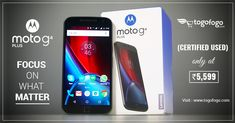 Get #CertifiedUsed version of #Motorola Moto G4 Plus 32GB.  Original & Quality Tested Products. Fully Functional, Zero Defects.  Shop Now - https://bit.ly/2yf7s4S  #Togofogo #BestDeals