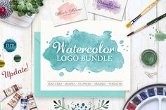 Watercolor Logo Bundle. DIY - Illustrations #ad
