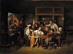 Village Tavern: by John Lewis Krimmel (Toledo Museum of Art, Toledo, Ohio) Toledo Museum Of Art, Art Museum, Otter, Pennsylvania History, Art Ancien, Historical Clothing, American Artists, 18th Century, Prints