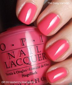 OPI Strawberry Margarita...one of my favs for Spring and Summer!