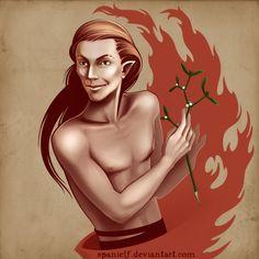 Loki with mistletoe by ~spanielf on deviantART