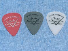 Fender Custom Shop 20th Anniversary set of 3 guitar picks #Fender #GuitarPicks