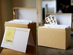 Recipe box to organize and store Thank You cards. (might help me get my Thank Yous out quicker)