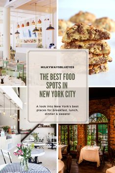 The best food spots in New York City A look into New York's best places for breakfast, lunch, dinner & sweets! If you're looking for restaurants in NYC, this is the place to be. Places To Eat Dinner, Lunch Places, Best Places To Eat, Bakery New York, New York Food, Restaurant New York, Fun Restaurants In Nyc, Breakfast Restaurants, Best Lunch Nyc