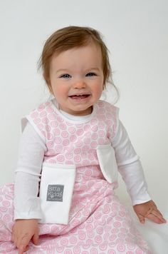 Lovie + Sack = Sleep! The LovieSack Wearable Lovie is the safe way to provide cozy comfort to your little one in the crib. Baby can't lose it during the night or toss it out upon waking up. The Lovie you wear is always there!