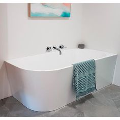 Shower Over Bath, Bathroom Tub Shower, Small Bathroom With Shower, Bathroom Layout, Bathroom Interior Design, Freestanding Bath With Shower, Back To Wall Bath, Bathroom Renovations, Bathrooms