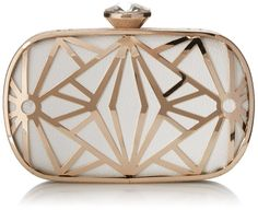 KISS GOLD(TM) Exquisite Leather Metal Hollow Designer Clutch Bag Evening  Handbags (Black)  Handbags  Amazon.com 74e3fe3ea4cc8
