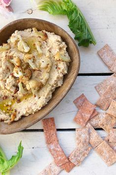 Helen's roasted cauliflower and tahini dip recipe makes a makes a fantastic party snack, with just a hint of spice adding warmth and tahini providing a gorgeous richness.