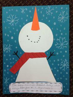 Snowman alliteration. Super cute!