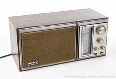 Vintage SONY ICF-9580W BASS REFLEX SYSTEM AM FM RADIO  Retro Japan 70s Wood EUC #Sony