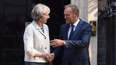 """There is no sense Britain is under pressure to leave the EU quickly, Theresa May's spokeswoman said after the prime minister met with Donald Tusk.  The first meeting between Mrs May and the European Council president since she became prime minister was described as """"friendly"""", with both agreeing they should work together to ensure a """"smooth"""" Brexit process.  Mrs May felt the EU understood her need to take time to form a negotiating stance before triggering Article 50"""