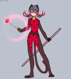 "Bringing a whole new meaning to the term ""Ladynoir"" (by sil-gua) (Miraculous Ladybug, outfit combination)"