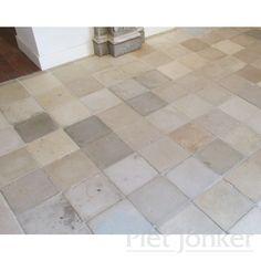 Mix van oude cementtegels