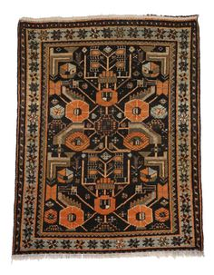 Antique Persian Hamadan Rug with Modern Tribal Style | Chairish Small Sitting Areas, Tribal Style