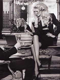 Claudia Schiffer by Karl Lagerfeld for Dom Perignon