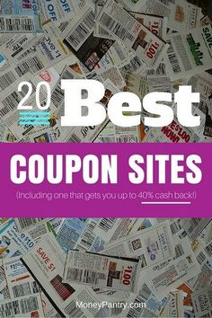 Save up to 90% on groceries, get up to 40% cash back and more with these top 20 coupon sites that even let you print coupons on the go...