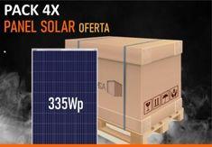 Pack 4x Panel Solar 335W 24V Sunergy Policristalino 72 Celdas