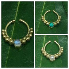 Fake septum, fake septum ring, indian jewelry Septum-Nose ring - Septum Nose Ring -  Septum Rings Nose Hoop  Septum Piercing by Handmadejewelry2015 on Etsy