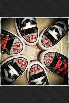ONE DIRECTION 1D Bling Chuck Taylor Converse Sneakers by Munchkenz, $100.00