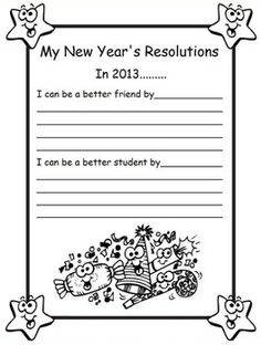 new years resolution writing 1 page writing strategies writing ideas second grade writing