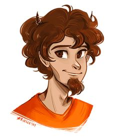 Grover Underwood from the Percy Jackson Series is satyr who is best friends with the main character of the series. Percy Jackson Drawings, Arte Percy Jackson, Percy Jackson Books, Percy Jackson Fandom, Grover Percy Jackson, Rick Riordan, Solangelo, Percabeth, Grover Underwood