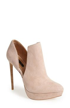 so SWEET...<3, <3, <3!!!  Free shipping and returns on Rachel Zoe 'Lynette' Bootie (Women) at Nordstrom.com. Plunging cutouts define a dramatic suede bootie lifted by a sky-high stiletto heel.