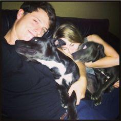 brigit mendler with shane harper | Pic: Shane Harper And Bridgit Mendler With His Dogs October 19, 2013 ...
