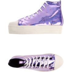 Forfex High-tops & Trainers (109.640 COP) ❤ liked on Polyvore featuring shoes, sneakers, lilac, high top shoes, high top trainers, forfex shoes, round toe shoes and forfex sneakers