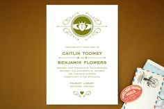 Contemporary Claddagh Wedding Invitations by Cheer Up Press at minted.com