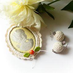 Kamelia - komplet biżuterii w SolmilarArt na DaWanda.com Crochet Earrings, Etsy, Jewelry, Bijoux, Jewlery, Jewerly, Schmuck, Jewels, Jewelery