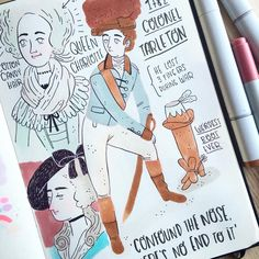 Some of the sketches I did on my date at the @national_gallery NEW VIDEO! Link in my bio ☕️✏️❤️