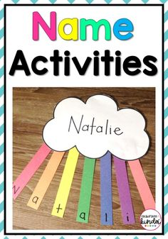 Easy Name Activities Kids Education Activities Kids fun and educational ideas. Tips for teaching kids to learn the alphabet and reading. Free printables, information, tips and more education activities free printable Name Activities Preschool, Name Writing Activities, Kindergarten Names, Pre K Activities, Toddler Learning Activities, Preschool Learning Activities, Preschool Lessons, Teaching Kindergarten, Preschool Classroom