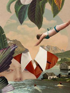 Collage postcards for KUKBUK Magazine on Behance Magazine Collage, Magazine Art, Montage Art, Illustrations, Photomontage, Graphic, Art Inspo, Art Projects, Behance