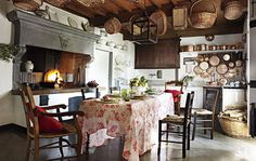 my mind's eye picture of the kitchen at Hal and Marge Owens' Meadowgate Farm in the Mitford series.  Hydrangea Hill Cottage