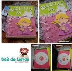 .::BAÚ DE LETRAS::. E.v.a. e Scrapbook