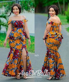 Classy picture collection of Beautiful Ankara Skirt And Blouse Styles These are the most beautiful ankara skirt and blouse trending at the moment. If you must rock anything ankara skirt and blouse styles and design. African Fashion Ankara, Latest African Fashion Dresses, African Dresses For Women, African Print Dresses, African Print Fashion, Africa Fashion, African Attire, African Wear, Ankara Long Gown Styles