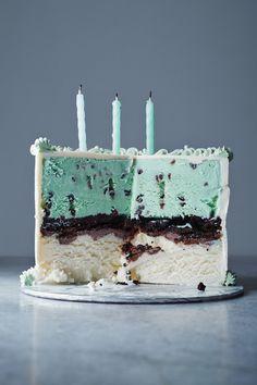 dream cake, mint green, chocolate chips, vanilla cake, ice cream cakes, mint chocolate, cake recipes, 30th birthday, birthday cakes