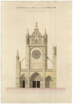Estado de la fachada sur de la catedral de León (1861)   expo 'Matías Laviña Blasco (1796-1868)' en biblioteca.arquitectura de @la_upm, vía Biblioteca UPM   #TheShowMustGoOn
