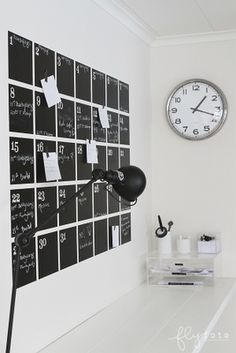 DIY calendar! For the home and classroom.