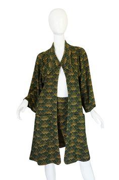 1960s Print Jersey Knit Biba Skirt & Jacket Suit image 4