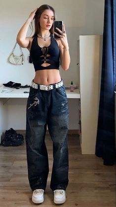 Neue Outfits, Swag Outfits, Retro Outfits, Cute Casual Outfits, Summer Outfits, Fashion Outfits, Edgy Outfits, 2000s Fashion, Look Fashion