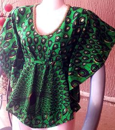 African Clothing African bubu top Ladies by AuthentiqueDesigns African Print Dress Designs, African Print Clothing, African Print Fashion, African Fashion Dresses, African Prints, African Blouses, African Tops, African Wear, African Dress