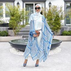 kaftan hijab-Chiffon and cotton maxi hijab outfits – Just Trendy Girls