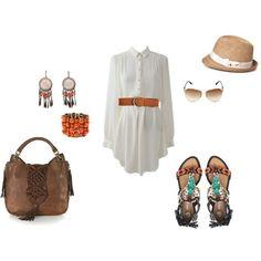 Summer-time style, created by kelsey-diener
