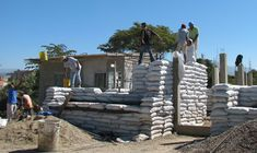 Earthbag construction... want to learn more about this!