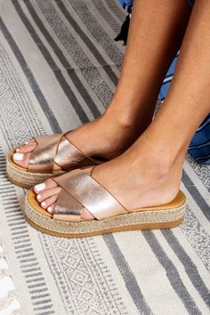 Platform Greek Leather Sandals Flat slip on Shoes Wedding Leather Sandals Flat, Flat Sandals, Rose Gold Wedges, Beautiful Sandals, Boho Sandals, Ancient Greek Sandals, Gold Leather, Slip On Shoes, Platforms