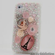 SWAROVSKI Crystal bling case for all phone device models/ I am in love with lux addictions it's a sin.