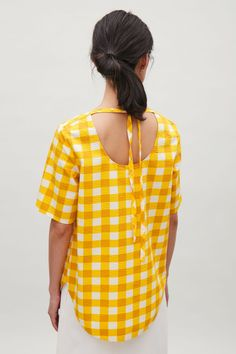 COS | Tie-back check top