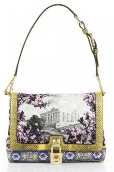 Dolce & Gabbana Templo Artemide Print Shoulder Bag