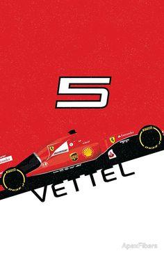 Sebastian Vettel Ferrari #5 Formula 1 #f1